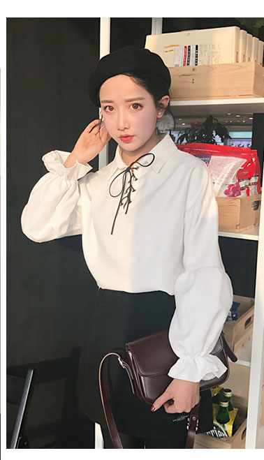 White Blouse with Lacing | Jimin – BTS