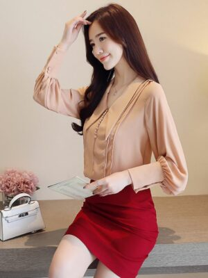 Kim Mi Soo inspired Outfit – Apricot Blouse