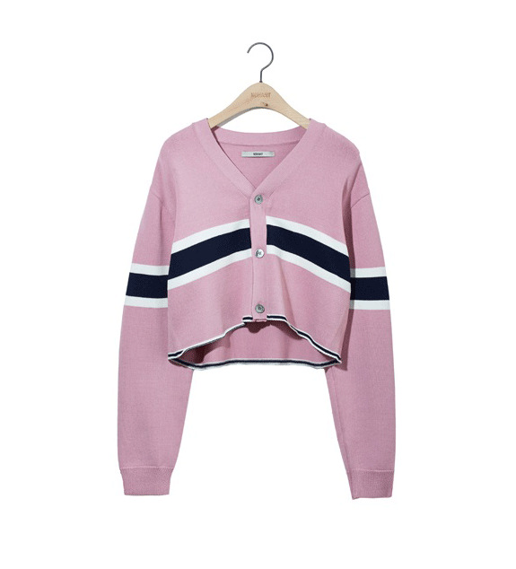 Pink Cropped Cardigan | Choi Mika – About Time