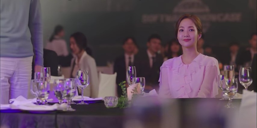 What's Wrong with secretary Kim Pink ruffled blouse Kdrama outfit