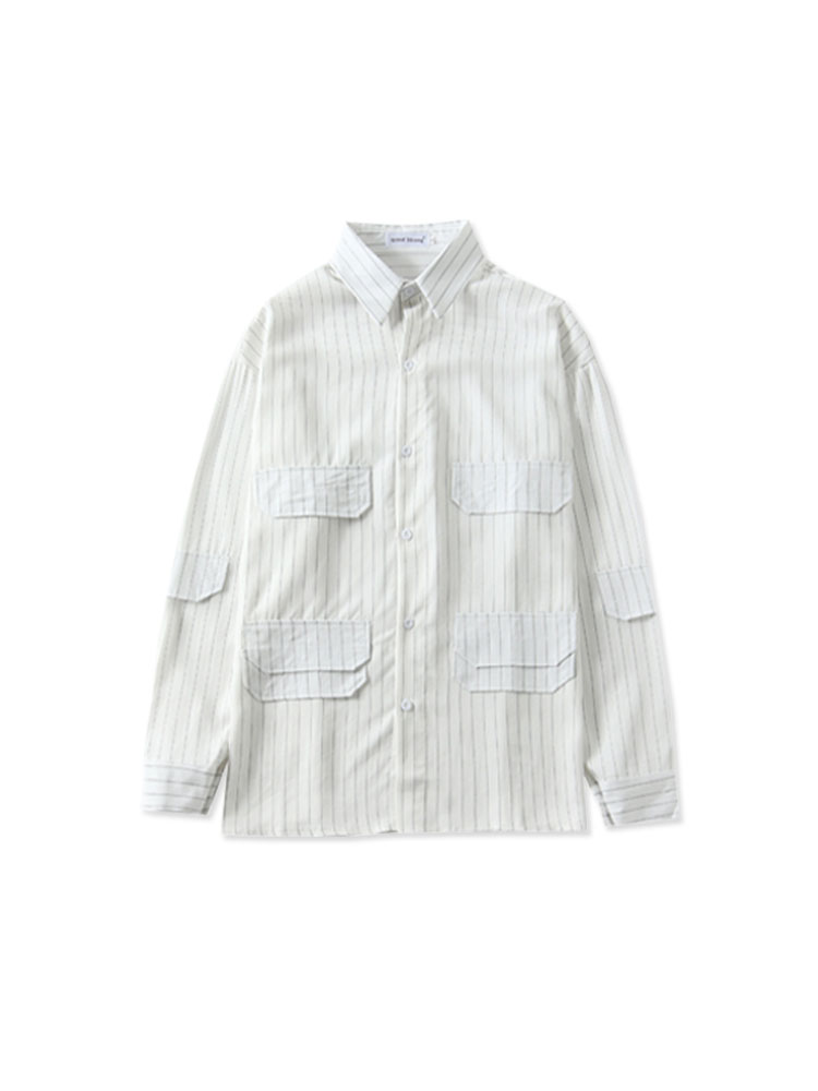 Taehyungs striped blouse from the DNA performance
