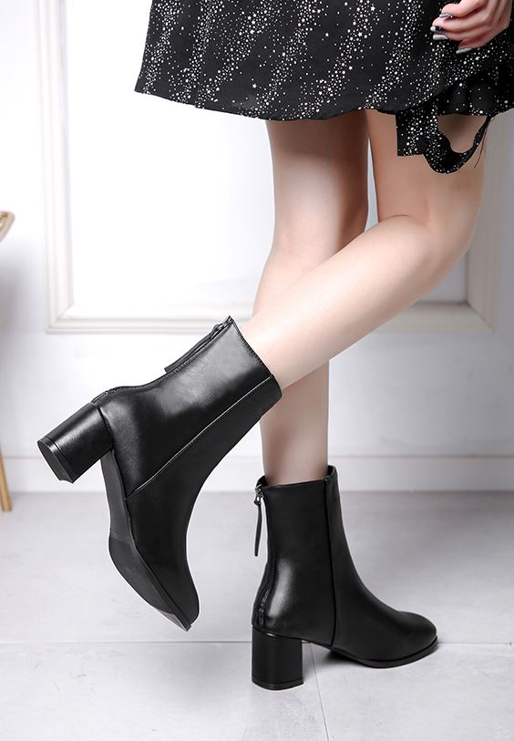 Chic Black Ankle Boots | Hani – EXID
