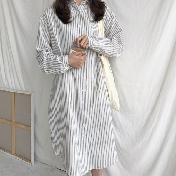 Striped Long Shirt   Jung Hee Joo – Memories of the Alhambra