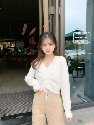 Wendy White Crop Top With Lace (1)