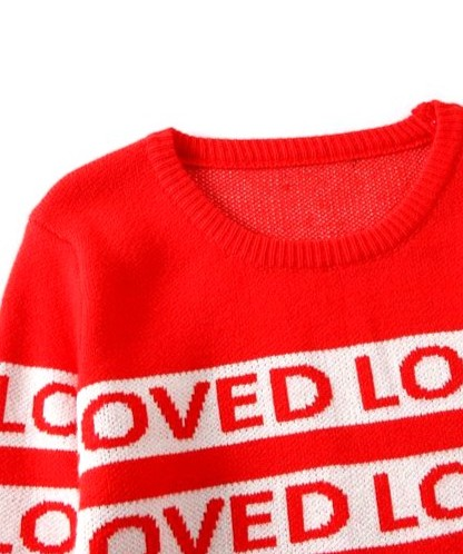 Red Loved Sweater | Suga – BTS