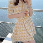 Hearts And Stripes Top With Skirt Set | Lisa – BlackPink