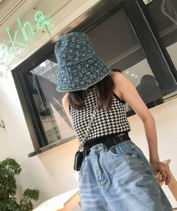 Houndstooth Sleeveless Plaid Top | Minnie – (G)I-DLE