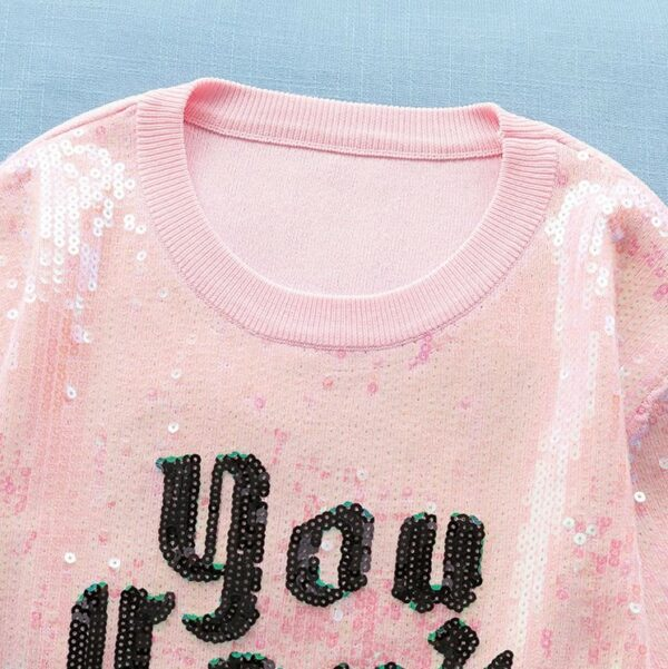 """""""You Can't Touch This"""" Pink Sequin T-Shirt   Yeri – Red Velvet"""
