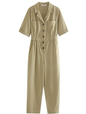 Yuna Collared buttons Jumpsuit (1)