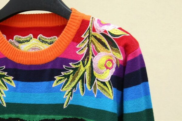 Tiger Head Flower Embroidery Sweater | J-Hope – BTS