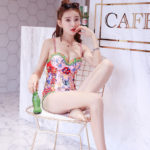 Colorful Baroque Style One Piece Swimsuit   Solar – Mamamoo