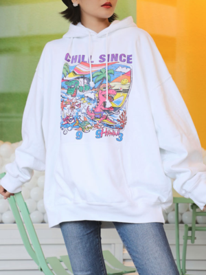 Lisa CHILL SINCE 1993 Pink T-Rex Hoodie 00005
