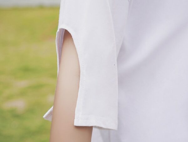 Cut Out Sleeve V-Neck Tee