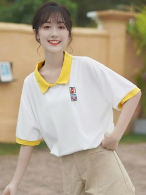 Loose Polo Shirt With Embroidery (2)