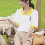 Loose Polo Shirt With Embroidery