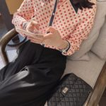 Red Clover Patterned Silk Blouse | Nayeon – Twice