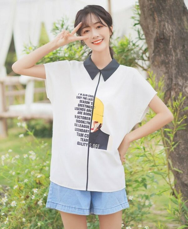 Short-Sleeved Polo With Doll Collar