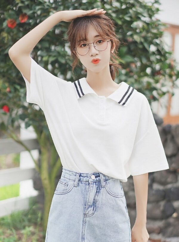 Short Sleeved Collared T-Shirt