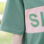 Simple Round Neck T-Shirt With Zipper