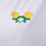 White T-shirt With Two Yellow Flowers