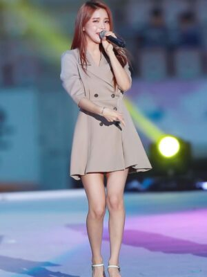 Beige Double Breasted Suit Dress | Solar – Mamamoo