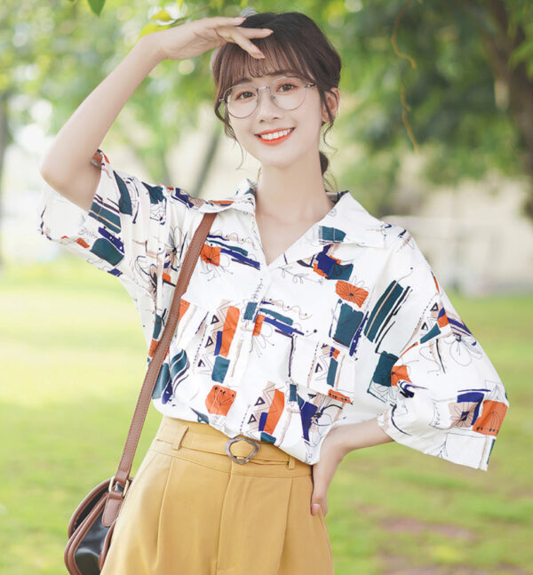 Abstract Flower Lines Shirt