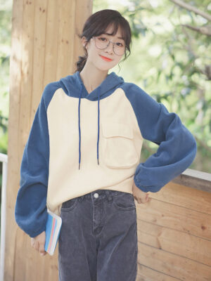 Blue And Cream Hoodie (8)
