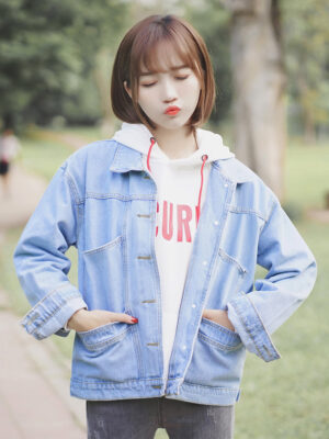 Blue Casual College Type Jacket (3)