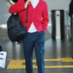 Red Knitted V-Neck Cardigan   Jeno – NCT