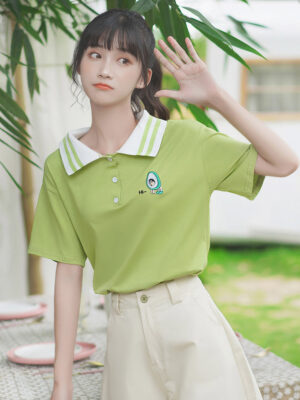 Striped Polo Collared Green T-Shirt (2)
