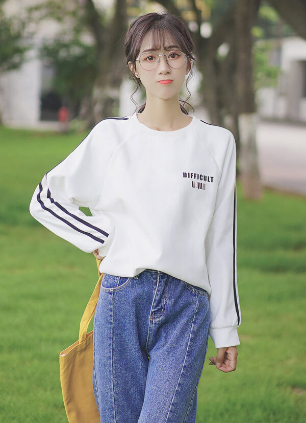 Black Striped Difficult Sweater