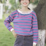 Blue And Red Striped Sweater