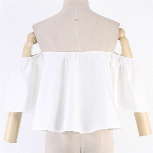 White Off Shoulder Top   Chung Ha
