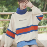 High Thick Collar Loose Sweater