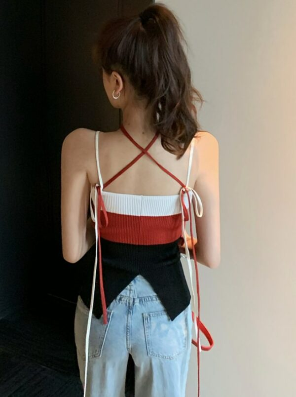Color Block Slim Fit Knit Tank Top | Shuhua – (G)I-DLE