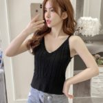 Twisted Sling V-neck Cami Top   Soyeon – (G)I-DLE