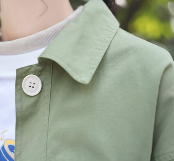 Casual Big Buttoned Green Jacket