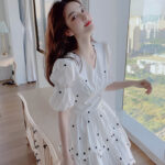 White Dress With Tiny Embroidered Flowers | Lisa – BlackPink