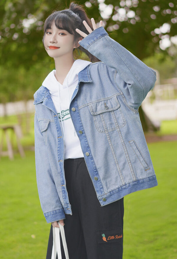 Washed Out Denim Colored Jacket