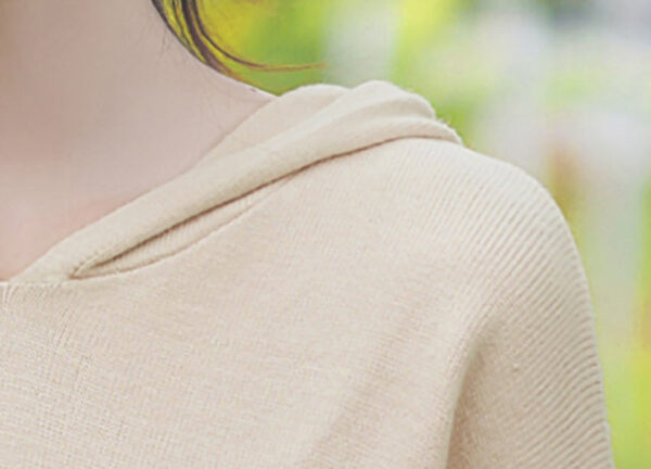 Beige Hoodie With Cute Doggy