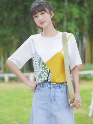 Faux Two-Piece Cute Cami On T-shirt (4)