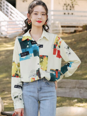 Floral And Scenic Print Shirt (3)