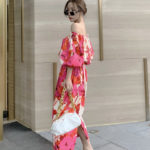 Floral Puffed Sleeve Off-Shoulder Dress | Ko Moon‑Young – It's Okay Not To Be Okay