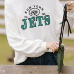 Jets White Casual Sweater