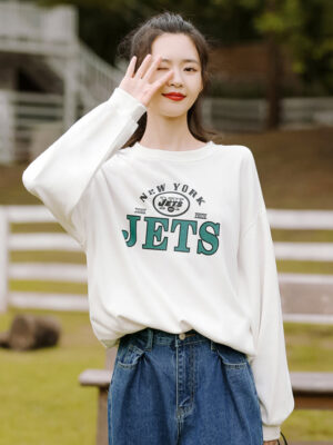 Jets White Casual Sweater (5)