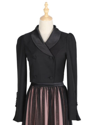 Ko Moon Young Black Cropped Suit Jacket (3)