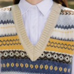 Multicolored And Different Patterned Vest