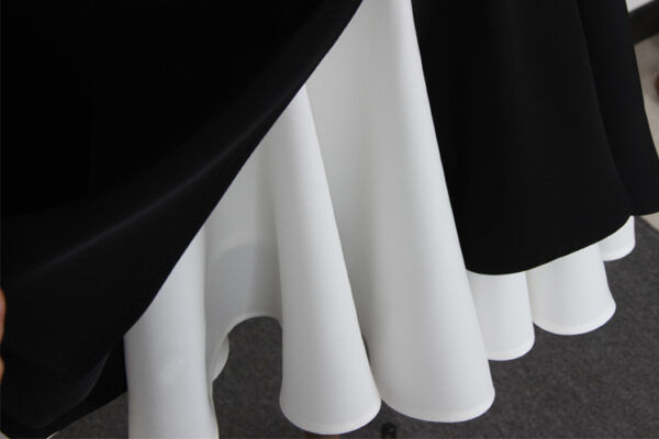 Black And White Asymmetrical Fishtail Skirt | Shim Cheong – The Legend Of The Blue Sea