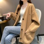 Purple Knitted Cardigan With Pockets   Shim Cheong – The Legend Of The Blue Sea