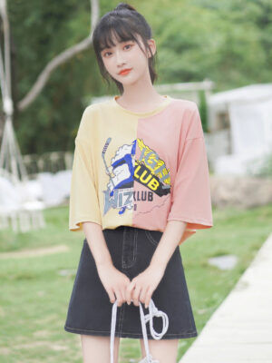 Yellow And Pink Joint T-Shirt (2)